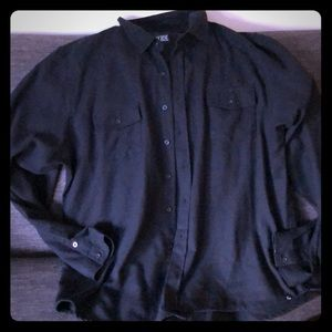 Rude men's long sleeve button up shirt size XL
